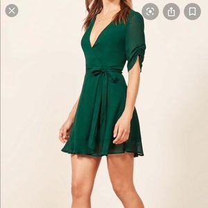 Reformation Monica Wrap Dress M